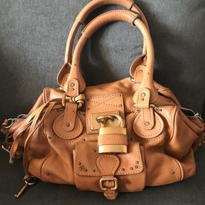 Authentic Chloe Paddington Bag in Camel